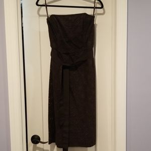 NWT Strapless Chocolate Lace dress Size 8